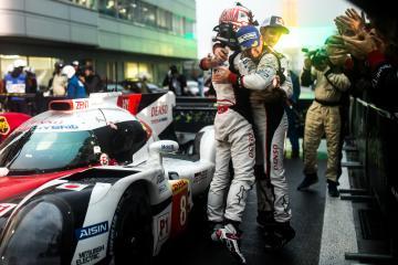 Parc ferme - #8 TOYOTA GAZOO RACING / JPN / Toyota TS050 - Hybrid - Hybrid / Sebastien Buemi (CHE) / Anthony Davidson (GBR) / Kazuki Nakajima (JPN) - WEC 6 Hours of Fuji - Fuji Speedway - Oyama - Japan