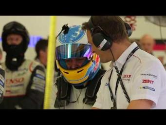 Fernando Alonso at the 2017 WEC Rookie Test