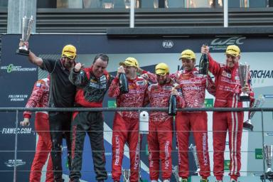 Podium at the WEC 6 Hours of Spa - Circuit de Spa-Francorchamps - Spa - Belgium
