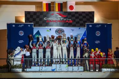 Overall Podium at the WEC 6 Hours of Circuit of the Americas - Circuit of the Americas - Austin - America -