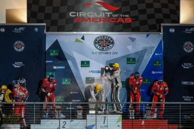 GTE Pro Podium at the WEC 6 Hours of Circuit of the Americas - Circuit of the Americas - Austin - America -