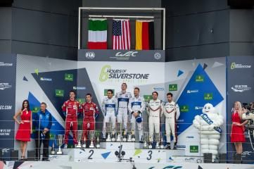 GTE PRO Podium at the FIA WEC 6 Hours of Silverstone  - Silverstone Circuit - Towcester - United Kingdom