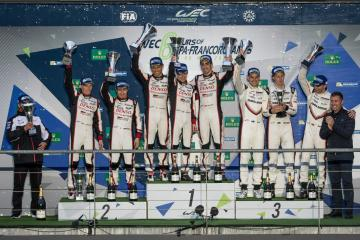 LMP1 Podium at the WEC 6 Hours of Spa - Circuit de Spa-Francorchamps - Spa - Belgium