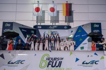 Overall Podium -  WEC 6 Hours of Fuji - Fuji Speedway - Oyama - Japan